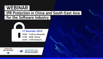 Webinar - IPR Protection in China and South-East Asia for the Software Industry