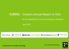 Cover EUREKA Cluster's Annual Report